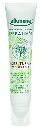 alkmene Teebaum Tupfer Tea Tree Oli Melaleurca Anti Pickel & Akne Creme, 3er Pack (3 x 15 ml)