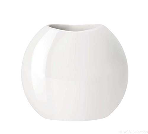 ASA Vase, Porzellan, weiß, 26x23x24 cm