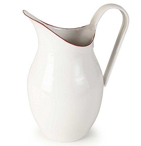SIDCO ® Wasserkanne Shabby Milchkrug Krug Saftkrug Wasserkrug Kanne Vintage bordeaux