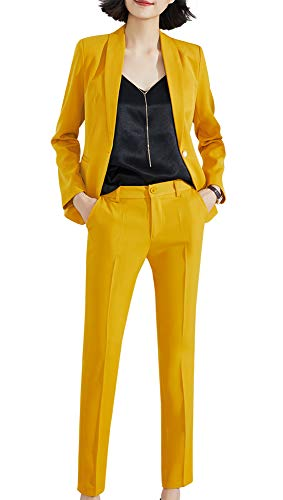 Women Two Pieces Suits Slim Fit Business TrouserSuits Formelles Blazer Pant Suits -