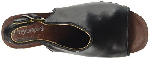 Jeffrey Campbell Snick Leather, Sandali con Tacco Donna Nero