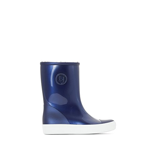 Lemon Jelly Women's Retro Women's Blue Mid Calf Wellington Boots In Size 39 Blue
