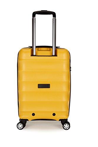 Antler Hand Luggage Juno B1 4-Wheel Cabin Case, 40 Liters, Yellow