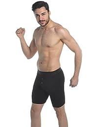 Boxeurs de coton hommes jambe longue superbe de qualité(1150 button fly)