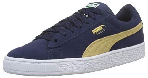 Puma Unisex-Kinder Suede Classic Jr Sneaker, Blau (Peacoat-Taos Taupe), 35.5 EU