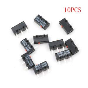 SLB Works 10pcs OMRON D2FC-FL-NH Red Dot Mouse Micro Switch ATAU