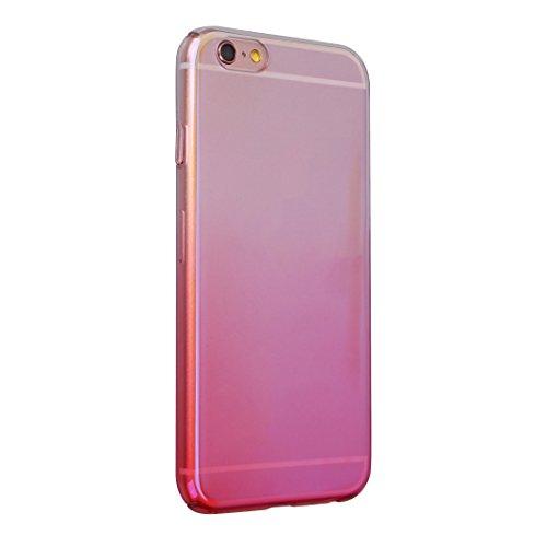 Coque iPhone 6 Plus Transparente Souple, Etui iPhone 6S Plus Housse Rosa Schleife Apple Coque iPhone 6 Plus PC Transparente Housse UltraSlim Mince Fine Plastique Etui de Protection Portable Téléphone  Colorful Rose