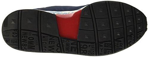 Tommy Hilfiger T2385rack 1c, Pompes à plateforme plate homme Blu (Ink 284)