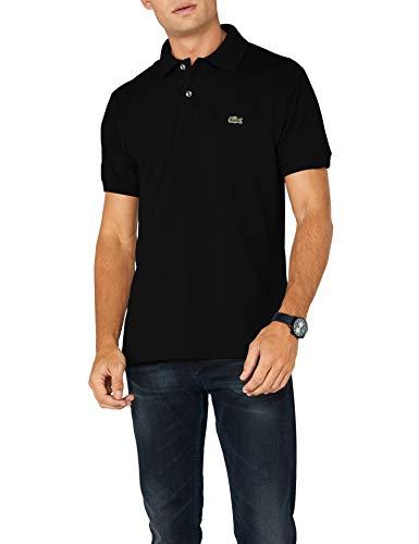 Lacoste Herren Regular Fit Poloshirt L1212 Einfarbig, Schwarz (BLACK 031), M (Herstellergröße: 4) - Frauen Polo-shirts
