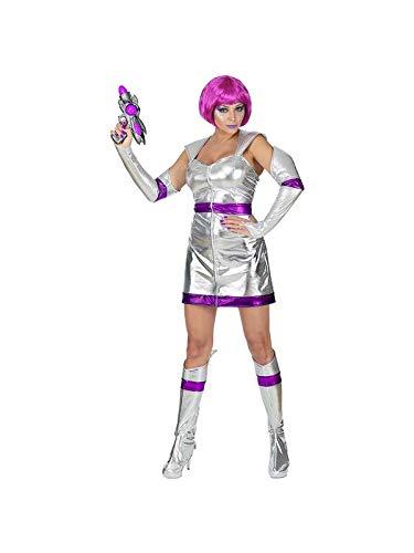 Kostüm Astronaut Girl - Widmann 69492 - Erwachsenenkostüm Space Girl Silber, Größe M