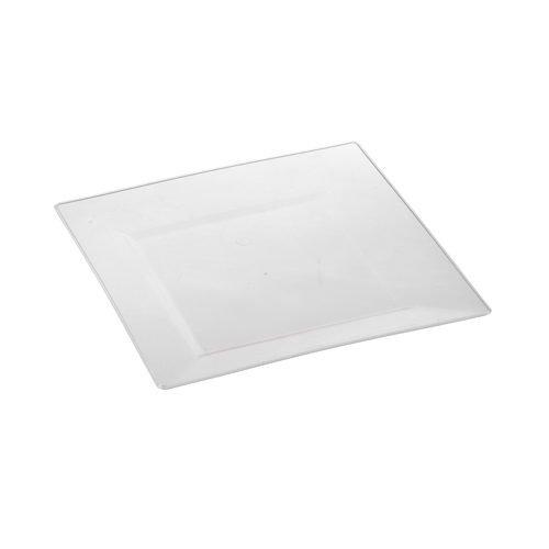 Fingerfood-assiette en verre 10 x 20,3 x 20,3 cm x 1.5 cm (transparent)