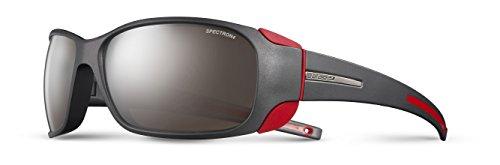 Julbo Sunglasses J 415 MonteBianco Outdoor 1222 Acetate Plastic Black - Red Brown Mirror