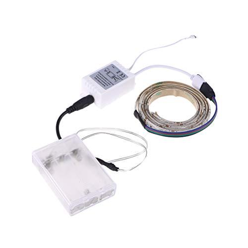 LEDMOMO RGB Bande de lumière LED Rétroéclairage TV 5050 SMD Rétroéclairage étanche flexible avec télécommande pour TV Placard Éclairage extérieur