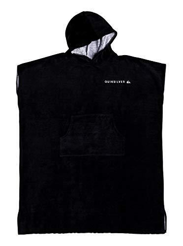 Quiksilver - Poncho para Surf con Capucha - Hombre - One Size - Negro