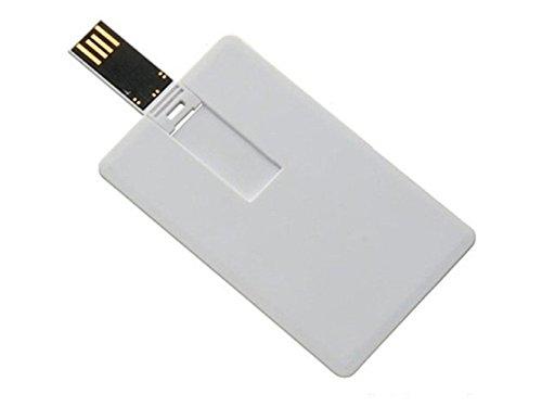 Aneew, chiavetta usb nera, a forma di carta di credito white 16 gb