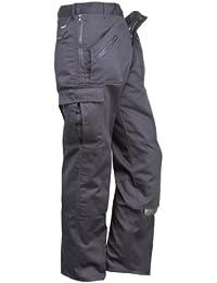 Ropa de trabajo de acción pantalones rodilleras bolsillos múltiples bolsillos con cremallera pantalones