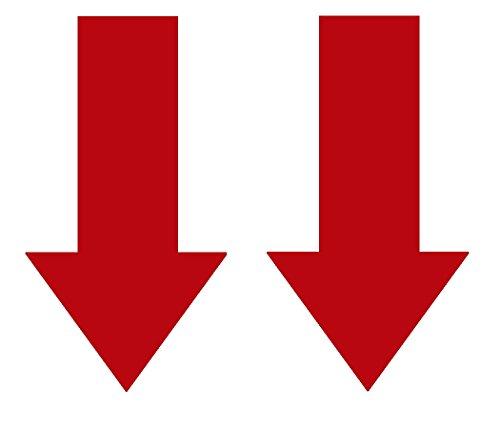 2x Abschlepphaken Pfeil Hochglanz rot passend für Rally, Viper 2 cm x 4 cm (3d Pfeil)