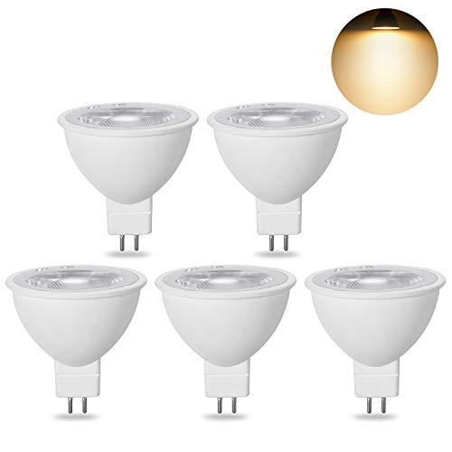 MR16 LED Warmweiß 12V 7W Ersatz für 50W 60W 70W Halogen Lampen GU5.3 LED 3000K 620Lumen Birne Leuchtmittel 38°Abstrahwinkel Spot Nicht Dimmbar (Lampe Ersatz-leuchtmittel)