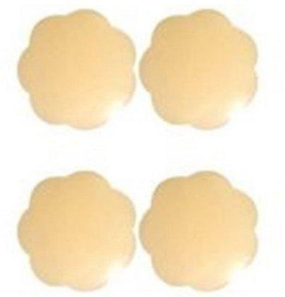 ANKKO Assorbilatte seno silicone naturale Ultra sottile capezzolo copertina seno adesivo pastiglie (Forma di fiore (Nutriente Lavare A Mano)