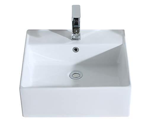 Eridanus serie penn, lavabo di ceramica bianco lusso lavandino lavello lavamano lavabo da appoggio rettangolare quadrato bacinella lavandino lavello per bagno casa bidet lavabo con troppopieno