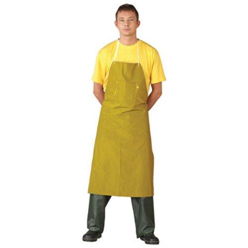 PVC Gummischürze gelb 75x110 cm Arbeitsschürze Schürze Metzgerschürze Bauschürze