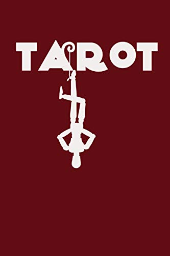 Tarot: Tarot Silhouette on Red Background, Three Card Spread Tarot Journal, A Daily Record Your Readings Diary -