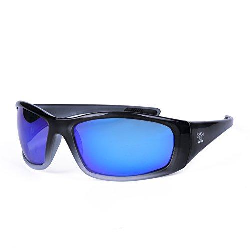 Polarisierte schwimmende Sonnenbrille-ideal für Rudern, Kajak, SUP, Drachenboot, OC-Kanu, Bootfahren, Strand, Cool Grey Blue