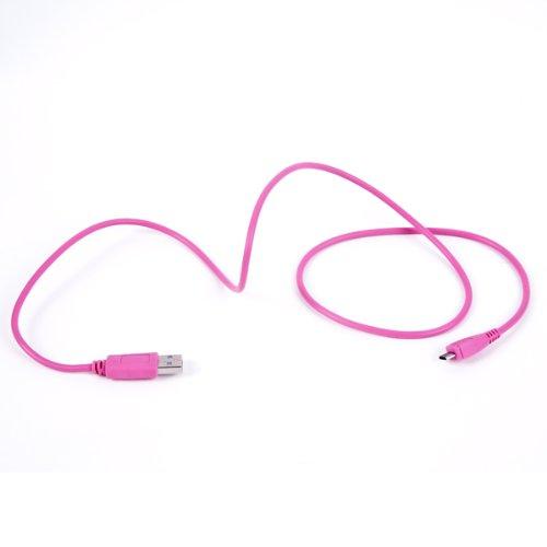BA5I5 Datenkabel 95cm in trendigem pink für Blackberry Pearl 3G 9105 und 8220 Pink Blackberry Pearl