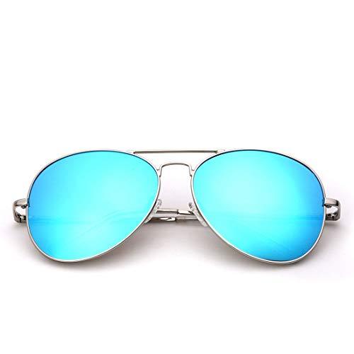 Yiph-Sunglass Sonnenbrillen Mode Frauen ohne Rahmen polarisierte ultraleichte Sonnenbrille für (Farbe : Silver Frame/Blue Lens) -