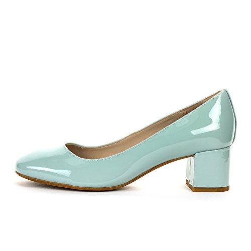 Clarks Chinaberry Gem, Chaussures à talons - Avant du pieds couvert femme Bleu (Aqua Patent)