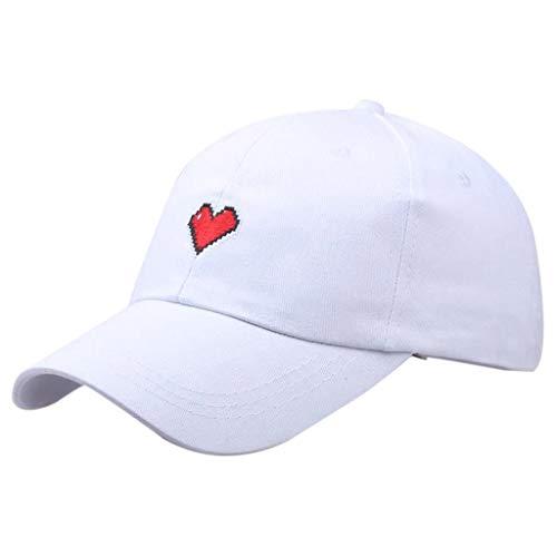 Saingace Frauen Männer Unisex Sommer Outdoor Liebe Drucken Visier Baseball Cap Verstellbarer Hut