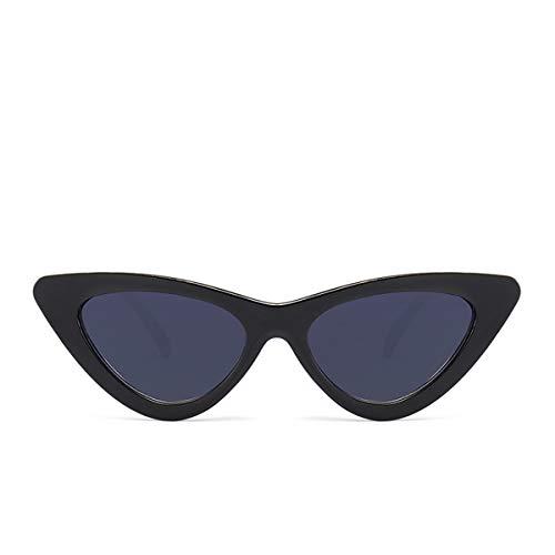 FGRYGF-eyewear Sport-Sonnenbrillen, Vintage Sonnenbrillen, Cute Sexy Retro Cat Eye Sunglasses Women Small Black White NEW Triangle Vintage Cheap Sun Glasses Red Female Uv400 Blackgray