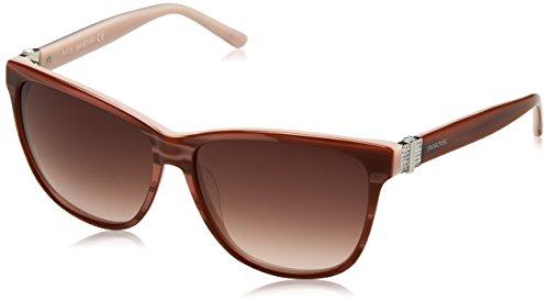 Swarovski Damen SK0121-5674F Sonnenbrille, Pink/Gradient Brown, 56