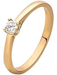 CHRIST Diamonds Damen-Ring 585er Gelbgold 1 Brillanten ca. 0,15 ct. (gold)