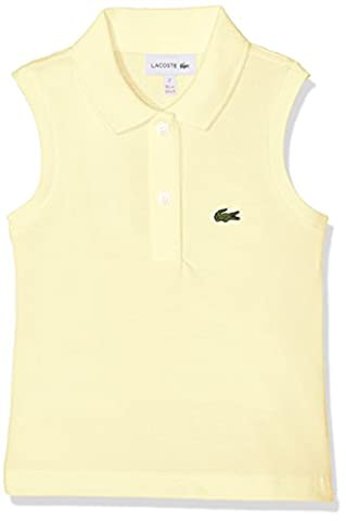 Lacoste Girl's PJ4169 Polo Shirt, Yellow (Blond), 8 Years (Manufacturer Size: 8A)
