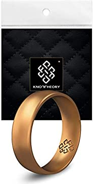 Knot Theory Silicone Wedding Rings for Men and Women - Comfort Fit Ultra Comfortable Premium Rubber Ring Bands