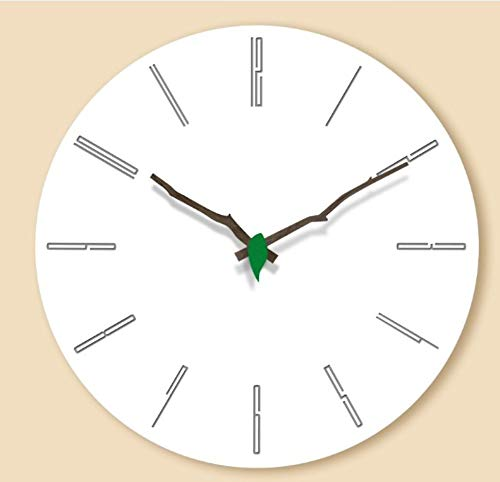 Pared Despertadores Creativo Mdf Relojes De Pared De Madera Sala De Estar Moderna Decoración De La Pared Del Hogar Ronda De Madera Silenciosa Que Cuelga El Reloj Romano Grandes Números 12 Pulgadas