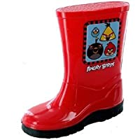 Official Angry Birds Wellington Welly Boots for Boy/Girls - Size: 2 (Kids)