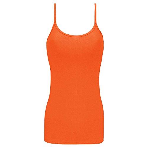 p für Kinder, mit Spaghettiträgern, Elasthan Gr. 7-8 Jahre, Orange (Racer Mädchen Halloween Kostüme)