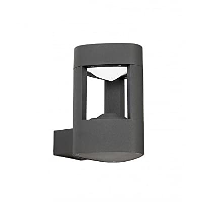 Endon EL-40074 Enluce LED Outdoor Matt Grey Wall Light with Cool White LED