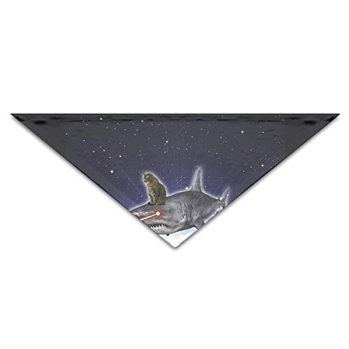 Osmykqe Cute Space CAT Laser SharkDog Birthday Pet Bandana Collars for Dogs and Cats (Dog Name Tag-camo)