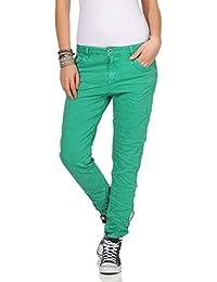Karostar Chinos Vaqueros de Mujer Baggy Pantalón Boyfriend Pantalones  Cintura Baja 19 c9f593ce6fe4