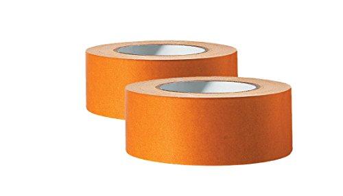Beste Kork-bodenbelag (2 x Profi Doppelseitiges Klebeband | Teppichklebeband doppelseitig 50 mm x 25 m | Teppich-Verlegeband Doppelklebeband | Hohe Klebekraft, stark klebend | Für glatte Untergründe)