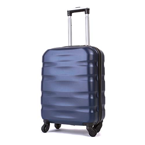 55x40x20cm Lightweight Ryanair Maximum Size Carry On Hand Cabin Luggage Suitcase,Bagaglio a Mano Unisex, (55cm-31.5L) (Blu)