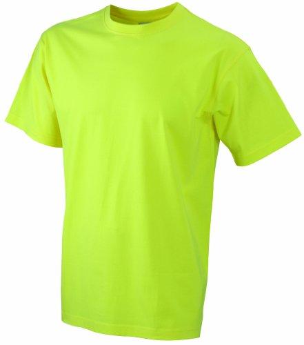 James & Nicholson Herren Komfort T-Shirt Rundhals Gelb (Yellow)
