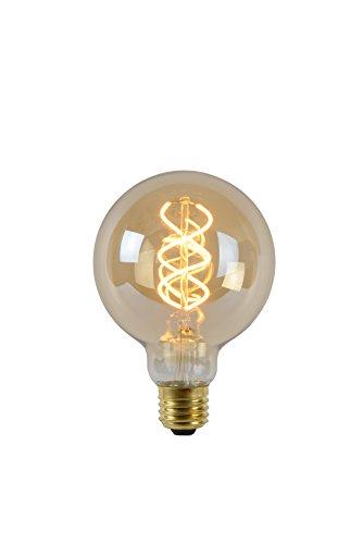 Lucide LEDBulb-LEDLampe-Durchmesser 9,5 cm-LEDDim. -1X5W 2200K-Amber, Glas, E27, 5 W, amber, 1 x 1 x 13.8 cm