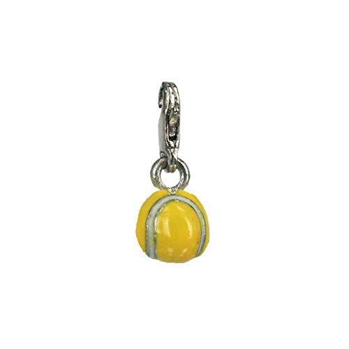 Charm tennis ball aus Stahl by Charming Charms. Versandkostenfrei bis 30 £ (Tennis Ball Charm)