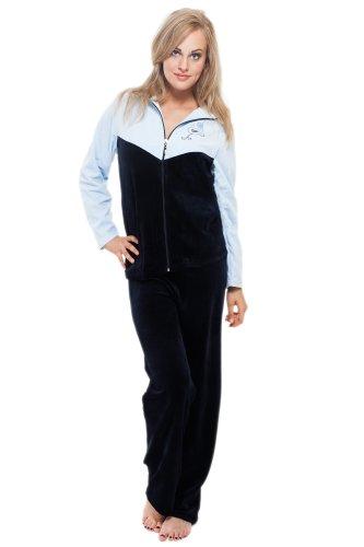 Merry Style Tuta in velluto per Donna Blu scuro