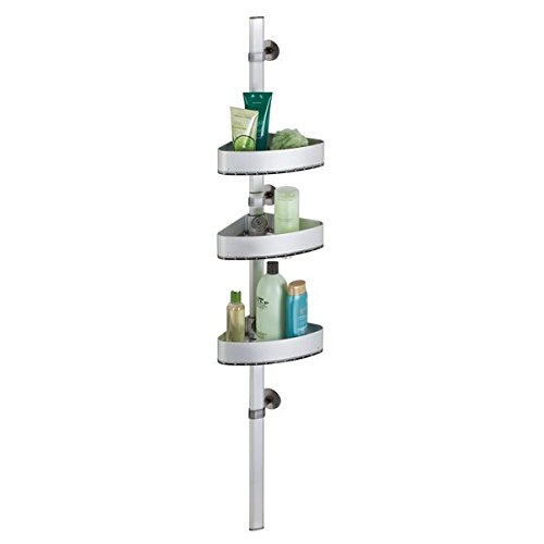 mDesign AFFIXX Badregal selbstklebend – Hängeregal mit drei Körben für Shampoo, Duschgel etc....
