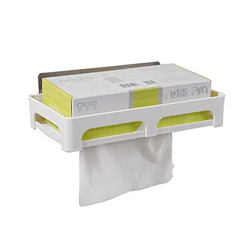 HCDMRE Kreative Papierbox mit Saugnapf zur Wandmontage, Toilettenpapierhalter, Toilettenpapierhalter, Toilettenpapier-Aufbewahrung, Papier-Handtuchhalter, Badezimmer-Zubehör